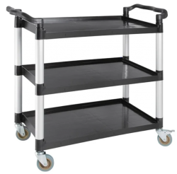 Vogue Polypropylene 3-Tier Catering Trolley Large