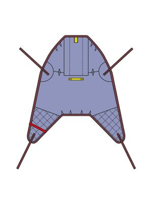 High easy poly sling, Dual clip and loop with padded legs