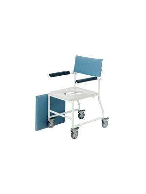 Shower Chair & Commode, Mobile, 4 Brake Castors