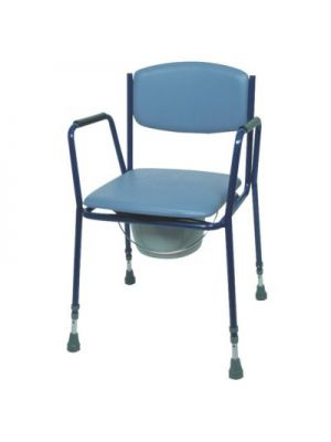 Adjustable Height Commode Chair (Stackable)