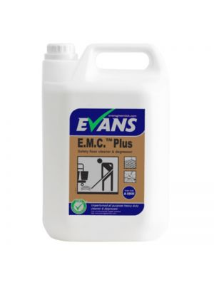 Evans EMC Plus Safety Floor Cleaner & Degreaser, 2 x 5 Litres