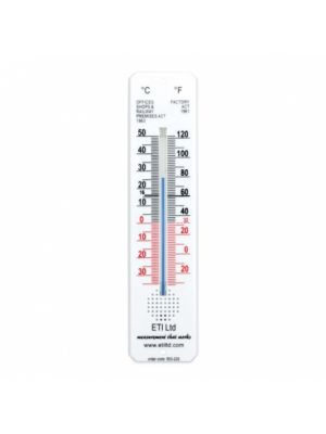 Thermometer, Room, White Long 45x195mm