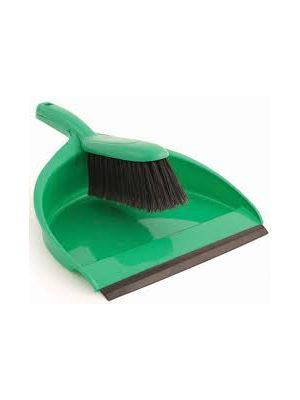 Dust Pan & Brush, Green