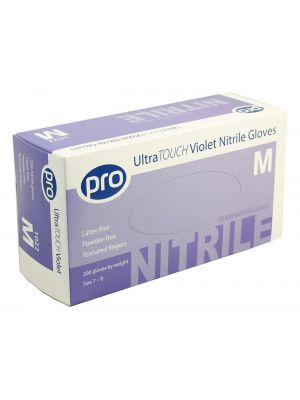 Nitrile, Ultrasensitive Examination Gloves, Violet, Powder Free, Case 2000