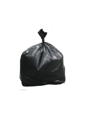 Heavy Duty Large Black Refuse Sacks, Case of 200 (19x35x39