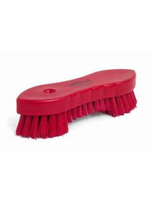 Plastic Scrubbing Brush, Red