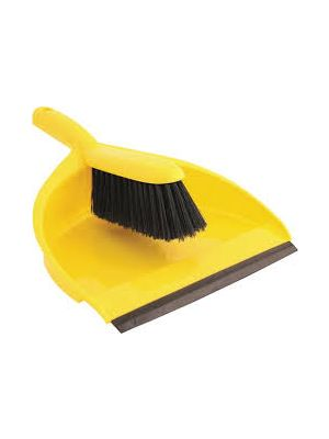 Dust Pan & Brush, Yellow
