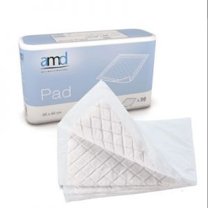 AMD Underpad Incontinence Sheets 60 x 60cm (Super) - Pkt/Case