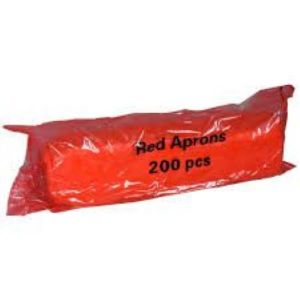 Disposable Aprons On a Roll, Red, Roll of 200