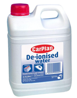De-ionised Water 2.5 Litre