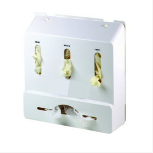 Deluxe Enclosed Wall Mounted Glove and Apron Dispenser