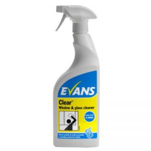 Evans Clear Window & Glass Cleaner, 6 x 750ml
