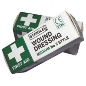 First aid dressings, No. 8 Medium  12x12cm