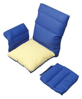 Polycore Full Chair Pad Set with Back and Velcro Arm
