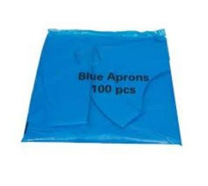 Aprons, disposable, Blue, Flat Pack, Pkt 100