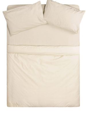 Flame Retardant Duvet Cover in Cream