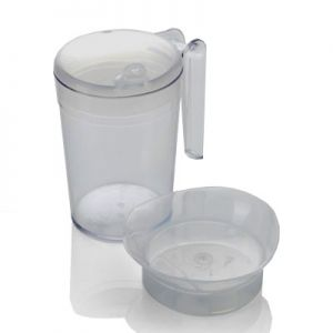 Beaker Set - Feeder/Drinking Cup with Handle & 2 Spout Lids