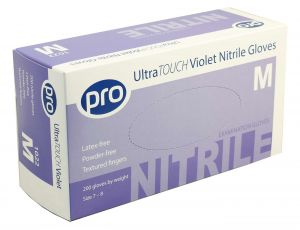 Nitrile, Ultrasensitive Examination Gloves, Violet, Powder Free, Case 2000 *Call for Price*