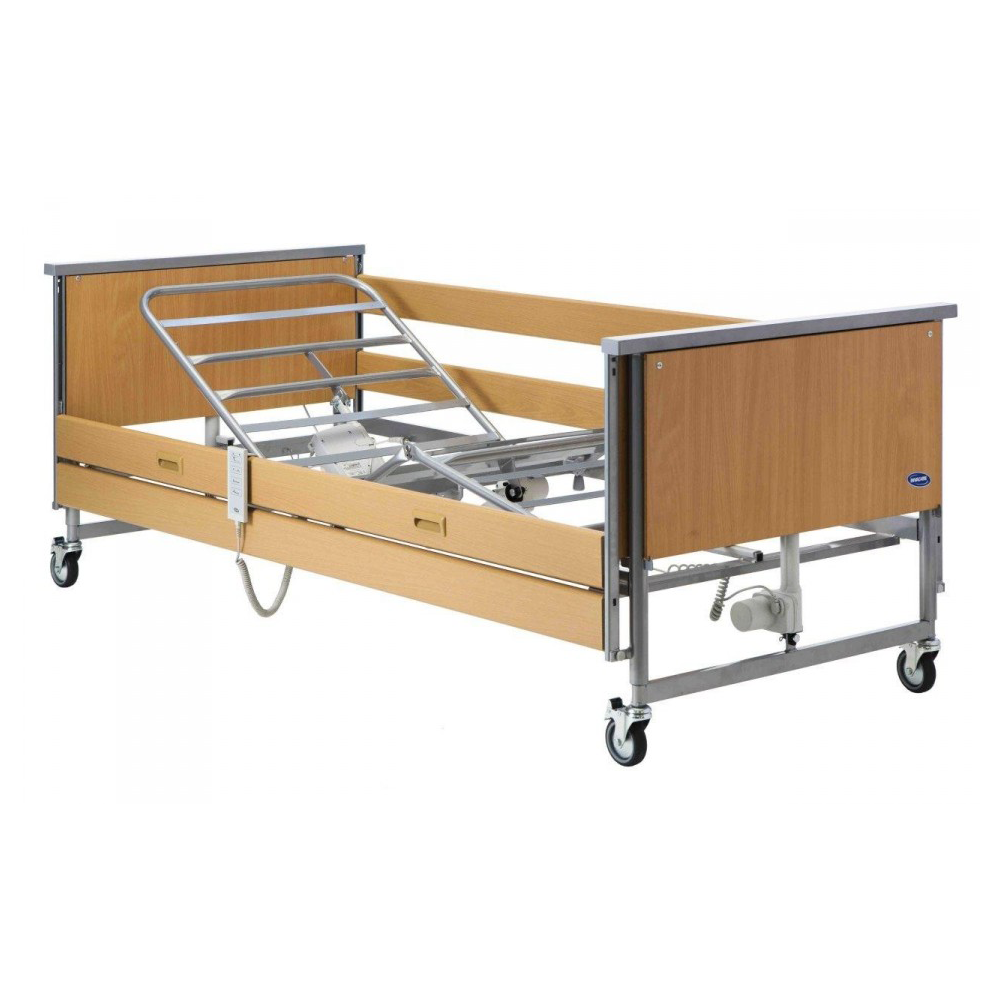 Full Nursing Bed With Panel Ends Wooden Side Rails