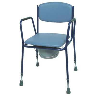 Magnificent Adjustable Height Commode Chair Stackable Evergreenethics Interior Chair Design Evergreenethicsorg