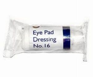 First aid dressings, No. 16 Eye
