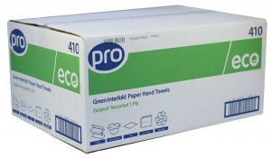 Hand Towels Inter-Fold 1 Ply Green Case 5000 (410)
