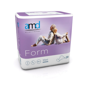 AMD Form Maxi Shaped Incontinence Pads (Night Plus) - Pkt/Case