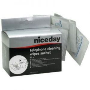Telephone Cleaning Wipe Sachets, Pack of 50