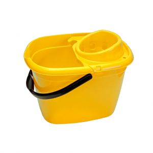 Mop Bucket with Wringer, Yellow